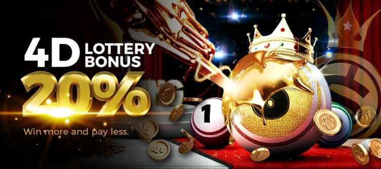 4D Lottery Bonus Banner